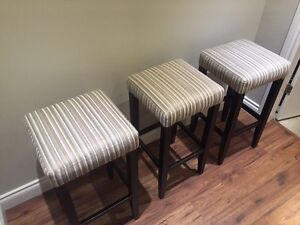 Three bar stools