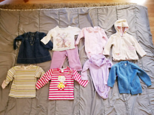 Baby girl size 6-12 months clothes