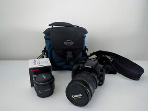 Canon rebel xti with 2 lenses: Canon EF 28-135mm and EF 50mm II