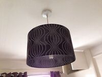 Black patterned lamp shade ceiling lamp 36cm across