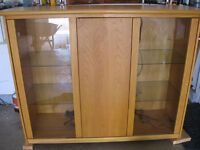 cabinet with glass doors and interior light /buffet