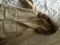 M&S jacket size 12 winter white. Used once.