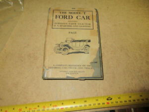 1920 FORD MODEL T CAR TRUCK AND FORDSON FARM TRACTOR BOOK