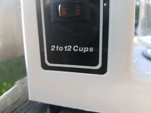 Coffee maker 2 to 12 cups