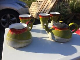Bulgarian teapot, jug, and cups - unused £8
