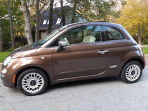 2012 Fiat 500 Lounge. 85,000 kms Fun to Drive 5 speed manual