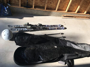 Skis, Poles, Helmet, Boots and Bag for sale!
