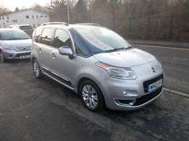 CITROEN C3 PICASSO MANUAL DIESEL 1.6TD ( 90 BHP ) EXCLUSIVE 47,000 MILES 62 REG