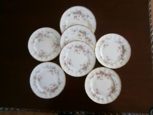 SEVEN SWEET PARAGON VICTORIANA ROSE SIDE PLATES