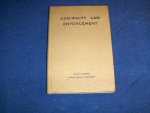 ADMIRALTY LAW ENFORCEMENT-U.S. COAST GUARD-1943-VINTAGE