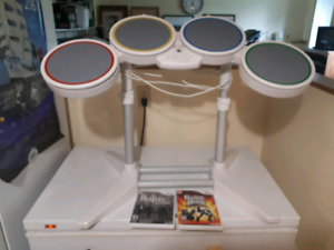 Wii and Rockband with Drums and Guitars