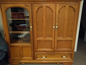 Large Solid Wood Entertainment Cabinet
