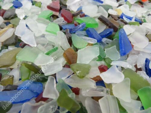 5 POUNDS 1/4 inch - 1/2 inch MACHINE MADE RECYCLED TUMBLED BEACH SEA GLASS