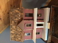 Assembled Georgetown dollhouse