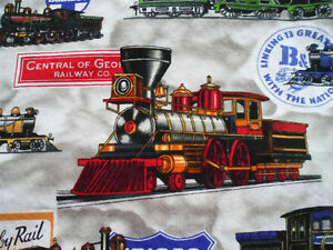 TRAINS, LOCOMOTIVES, RAILROAD SHIRT