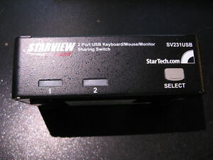 Starview 2 Port USB Keyboard Mouse Monitor Switch KVM SV231USB West Island Greater Montréal image 1
