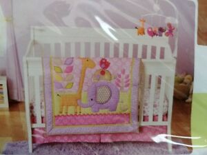 CuddleTime Girls 3 piece Nursery Set and matching Mobile
