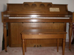 Upright Piano and Bench - $1500 or Best Offer