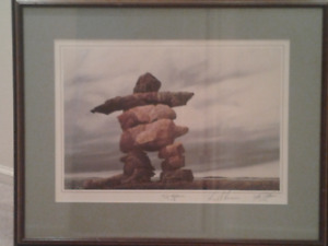 THIS WEEK 50% OFF on TheInukshuk by Ken Kirkby SIGNED/FRAMED
