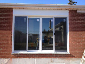 Sliding doors installed from $1000.  Egress window from $800