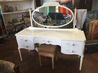 French style dressing table with stool