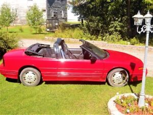 Red 1994 Oldsmobile Cutlass Convertible