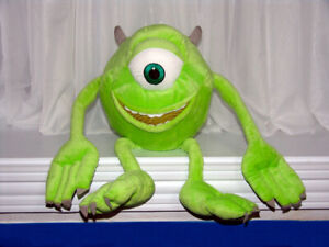 "Disney Pixar 14"" Monsters Inc Mike Wazowski Plush Cuddly, Clean"