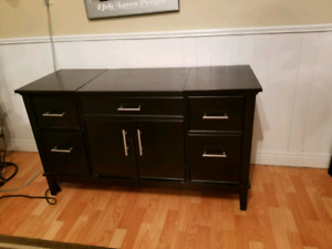 All in one credenza office desk