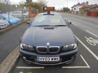 2003 03 BMW 3 SERIES 2.2 320CI SPORT 2D AUTO 168 BHP