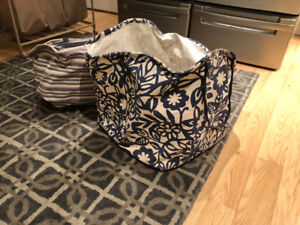 Umbra crunch laundry baskets with handles, fold flat