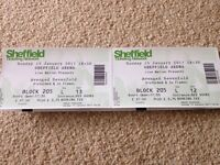 2 tickets for Avenged sevenfold SHEFFIELD ARENA