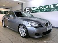 BMW 5 SERIES 525d M SPORT Auto [6X BMW SERVICES, SAT NAV, LEATHER and HEATED SEA