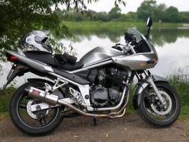Suzuki Bandit 650, 2005, 27672 miles, Black Widow exhaust, heated grip
