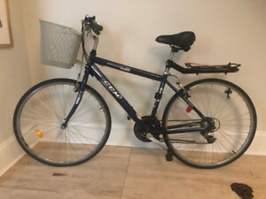 $175 commuter bike with basket and loading rack at the back