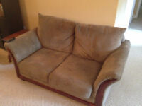 Plush Love seat and chair