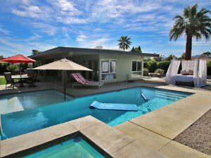 Mid-Century Gem Pool Jacuzzi, Mountain Views And Total Privacy