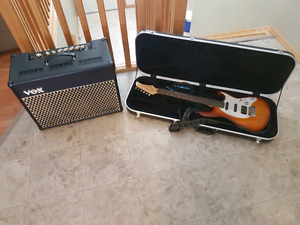 Cory Guitar and Vox VT 50 amp