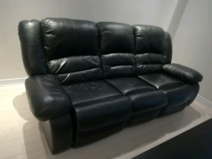 Lazyboy leather recliner couch - $100 OBO - MOVING SALE