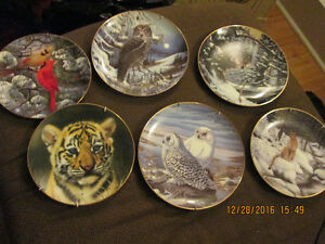 Numbered Wildlife Collector Plates