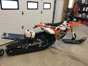 2015 KTM 500 XC W with LT Timbersled