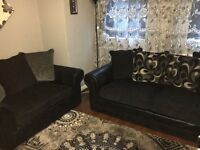 Black and grey sofas for sale