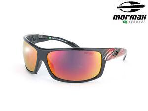 NIB MORMAII Model Joaca Sports Hand Painted 100% UV400 Sunglasses Black / Red