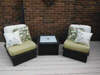 Wicker(Plastic) Chairs and Table