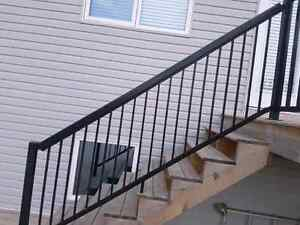 Aluminum railing pickets and spacers
