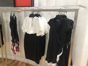 Stainless steel commercial shelving for clothing