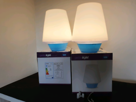 2x Getic Light Bedside Table LED Eco Friendly Lamp