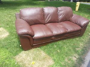 Leather couch curb side pickup