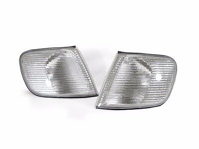 DEPO Euro Clear Corner Signal Lights Set For 1992-1994 Audi 100 / S4 C4 Chassis