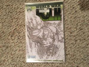 World War Hulk 1 B & W Variant w/COA