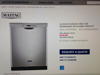 Maytag stainless steel dishwasher